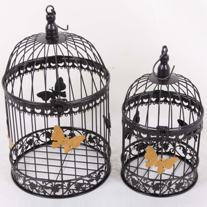 indoor antique white metal bird cage