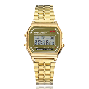 Gold Silver Women Men Watch Led Digital Watches