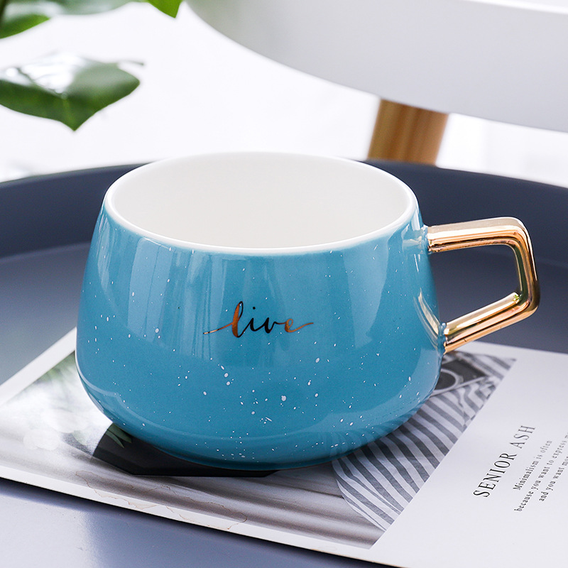 Creative Gold Ceramic Mug Gift Luxury Souvenir Mug