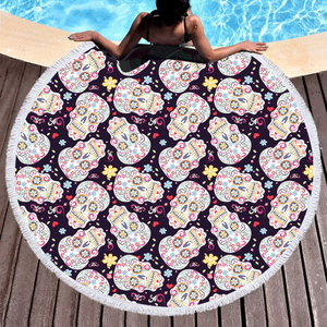 Round Polyester Beach Towel