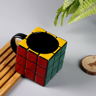 Wholesale Creative Toy Desisgn Russia Tetris Magic Rubik's Cube Shape of Porcelainmug with Handle