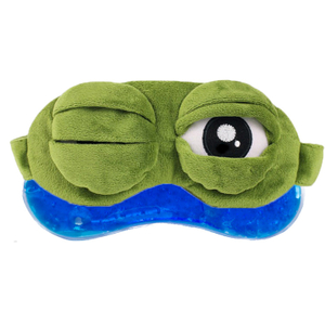 Silk Sleeping Gel Fashion Eye Sleep Mask Cooling Contour Ice Cold Plush Travel Animal Frog