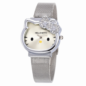 Cat Quartz Hello Kitty Watch Women Luxury Fashion Lady Girl Silver Stainless Steel Net Band Cute Wristwatch