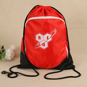 Custom Sports Travel Polyester Drawstring Bag