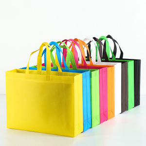 Customize Logo Stock Reusable Grocery Shopping Bag Goodie Treat Eco-friendly Non-Woven Tote Bags
