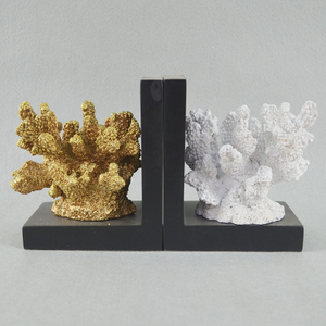 New Arrival Kids Gifts Book Ends Coral Resin Bookend for Home Decor