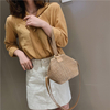Fashion Open Weaving Solid Color Messenger HandBag Shoulder Womens Bags