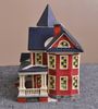 Ceramic Miniature Houses Led Light Up House
