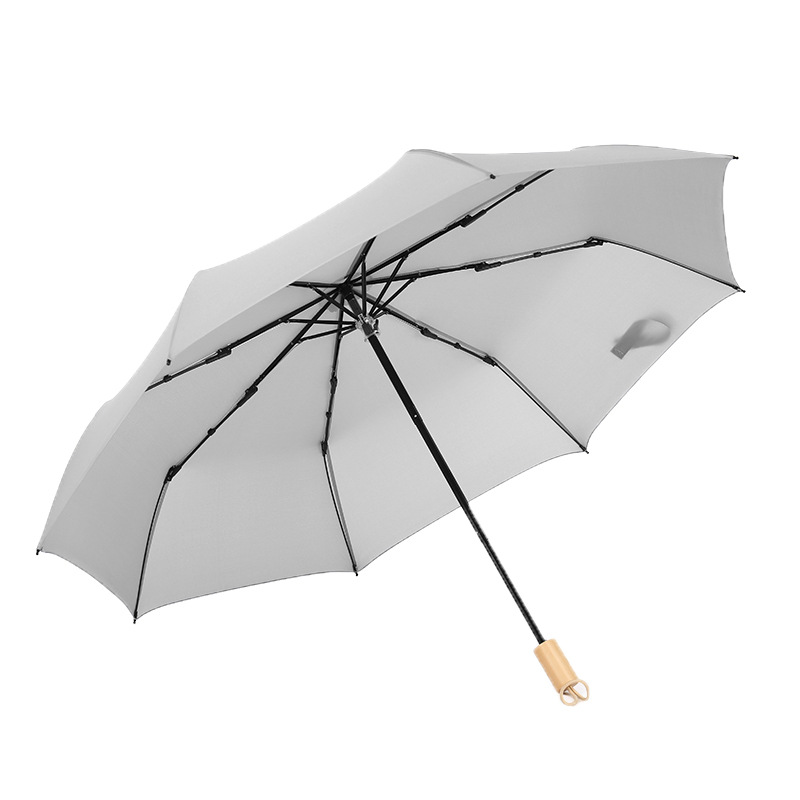 Cheapest Polyester Foldable Umbrella 8k Red And White 2 Colors Promotion Umbrella