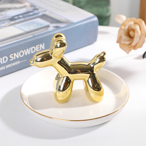 Cute Ring Holder Dish Ceramic Ring Dish Trinket Ring Dish For Gift Trinket Jewelry Tray