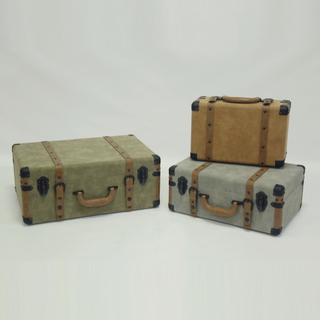 Decorative Printing Wooden Box Suitcase