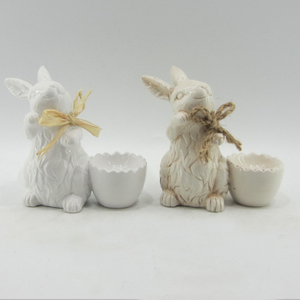 Decorative Ceramic Egg Holder Rabbit for Easter Day
