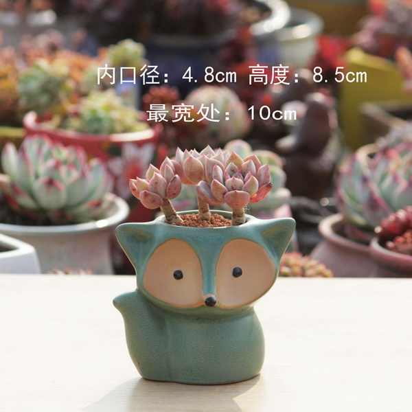 Creative Hand Pinching Flowers Small White Ceramic Flower Pots