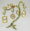 Green Creative Vintage Earring Ring Holder Necklace Jewelry Display Stand