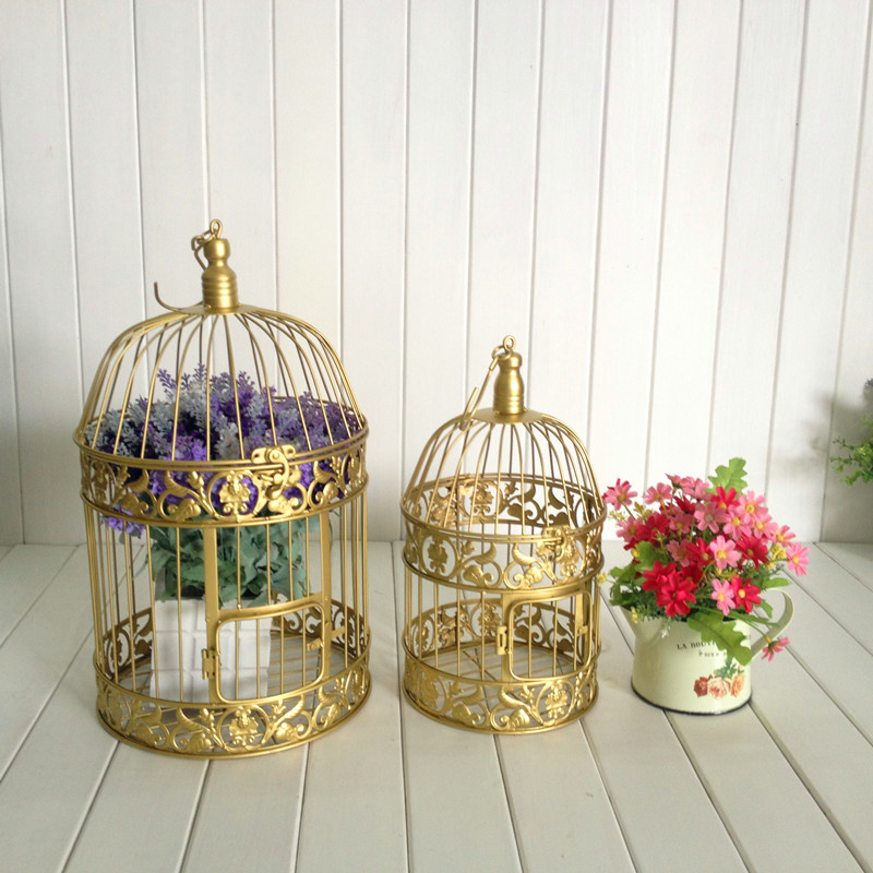 Large Metal Bird Cage Wedding Window Props Decoration