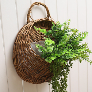 White Willow Storage Baskets With Liner And Handles, High Quality Willow Baskets,Willow Storage Baskets
