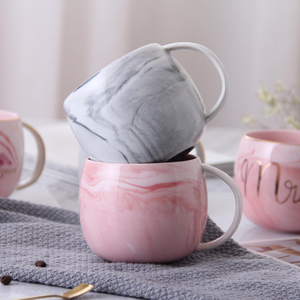 Ceramic Tummy Mug Marble Mug Couple Mug Flamingo Mug