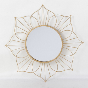 Modern Luxury Hotel Bathroom Decorative Antique Gold Round Wall Mirror