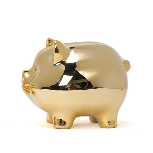 Christmas Gift Promotional Customized Gift Ceramic Pig Piggy Bank Money Box