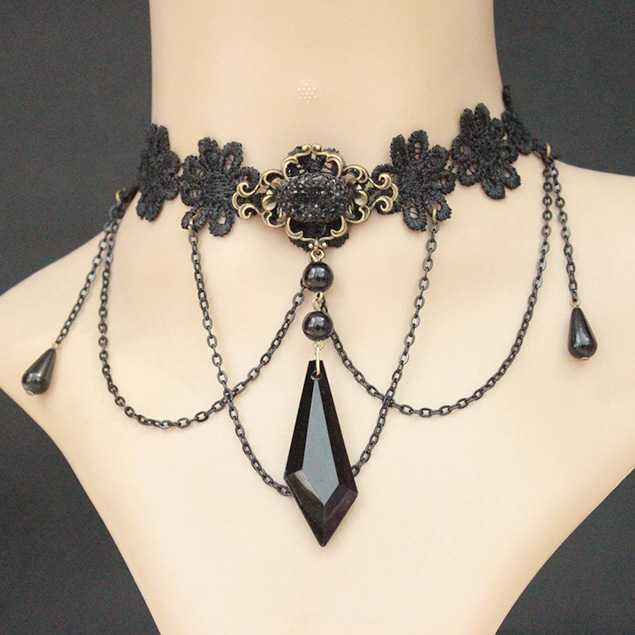 Crystal Rhinestone Necklace Fashion Statement Necklace Jewelry Necklace