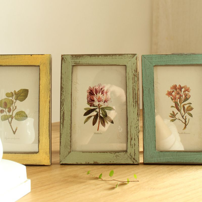 Customized Rustic Wall Picture Sets Antique Handmade Mini Black Funia Wooden Photo Frame