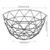 Nordic Style Fruit Basket Wire Decorated Metal Storage Basket Black Display Bowl Fruit Rack