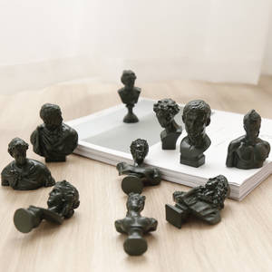 Nordic Mini Plaster Small Avatar Sketch Literary Figure Sculpture American Desktop Ornaments
