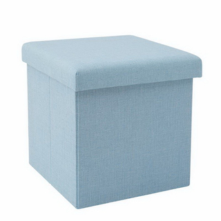 New printed foldable multifunctional square leather storage ottoman stool