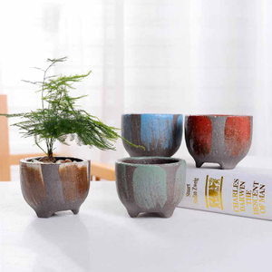 Burst Crude Pottery Wheat Meal Stone Succulent Flowerpot