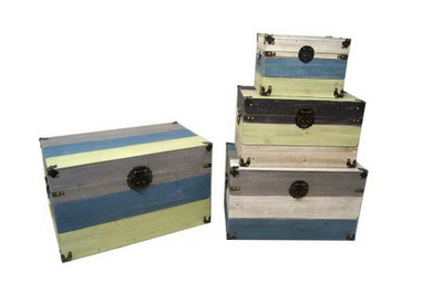 Shabby Chic Style Solid Wood Storage Trunk,antique Wooden Storage Trunk Box