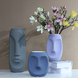 Home Decor Geometric Flower Vase,Origami Ceramic vase