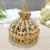 Hi-Q Zinc Alloy Silver Jewelry Box Heart Shape Have Different Graceful Patterns on The Packing Box