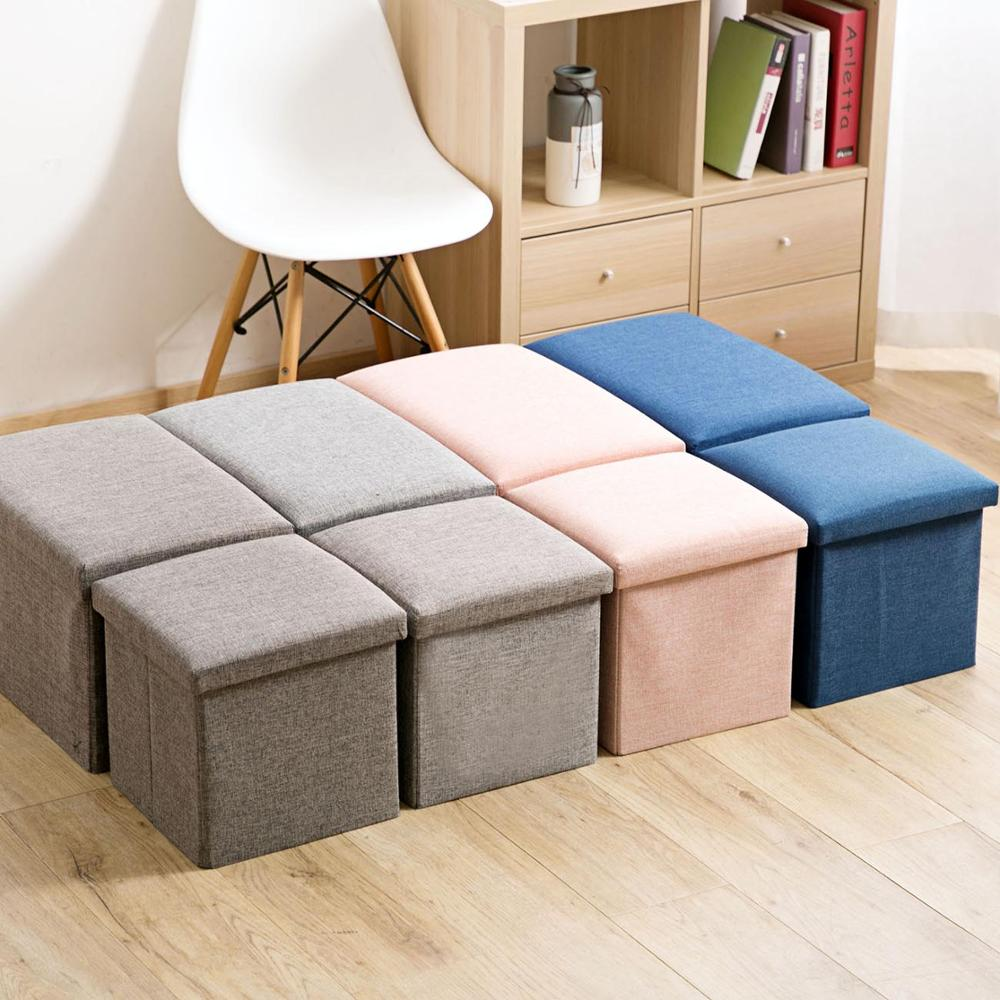 Multifunction Leather Folding PU Bench Ottoman Leather Puff