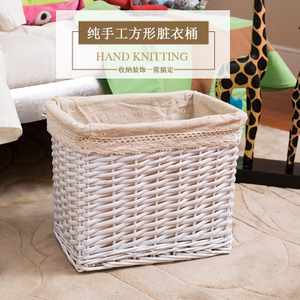 Hot Sell Wicker Basket Willow Material Laundry Basket
