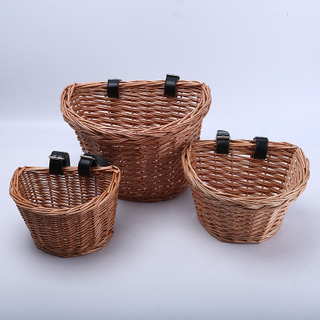 Small Willow Wicker Storage Basket with Handles