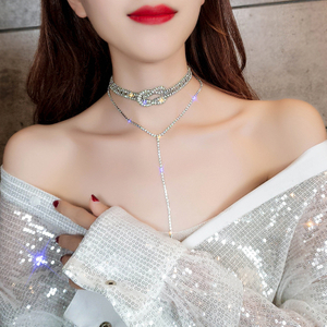 Free Shipping Fashion Necklace Women Jewelry Zinc Alloy Layered Choker Necklace
